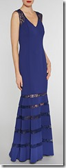 Gina Bacconi Lace and Crepe Maxi Dress