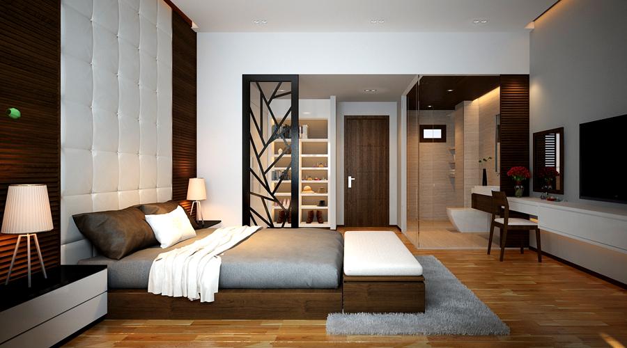 Mẫu nhà hiện đai sử dụng nội thất gỗ