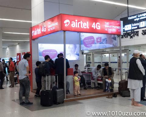 インディラ・ガンディー国際空港ターミナル3 Airtelカウンター