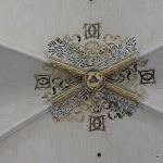 Château de Vincennes : Sainte-Chapelle, monogramme d'Henri II et Catherine de Médicis