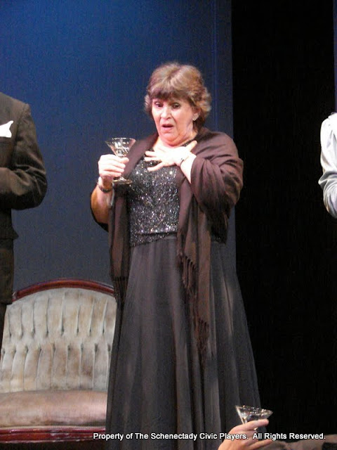 """Susan Katz in """"Mystery at Twicknam Vicarage"""" as part of THE IVES HAVE IT - January/February 2012.  Property of The Schenectady Civic Players Theater Archive."""