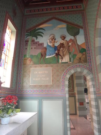 Parede lateral direita - Capela dedicada a São José