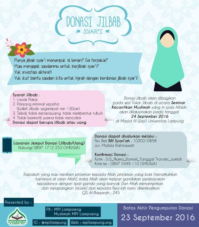 Ayo Bantu Saudarimu berjilbab Syar'i !