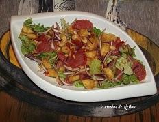 Recette de la Salade de pomelos et d'ananas