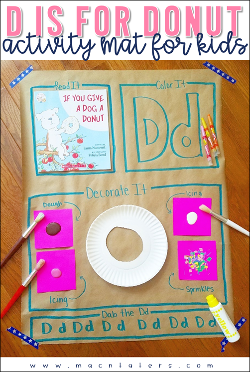 Donut Activity Mat for Kids