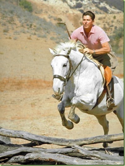 reagan on horse