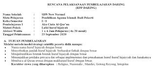Download RPP 1 Lembar PAI SD Kelas 1 K13 Revisi Terbaru