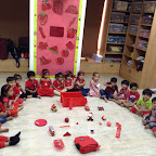 Red Day celebration activity Nur at Witty World Bangur Nagar, 2016-17