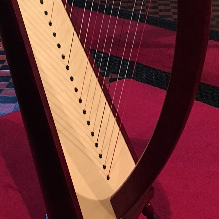 13 Strings of Lever Harp