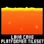 lava cave platformer game tileset