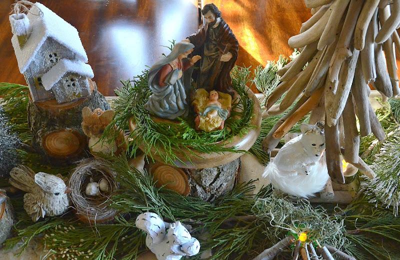 a woodland christmas centerpiece - Woodland Christmas