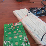 An early breadboard prototype proving out the concept with a TO-92 style transistor.