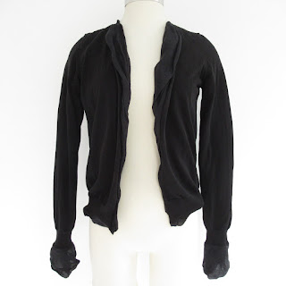 Bottega Veneta Black Ramie Cardigan