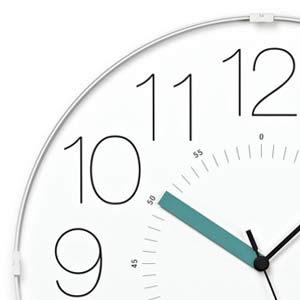 レムノスとけいCARAでんぱどけいホワイト秒針ブルーWR13-08WH-B あわつじデザイン プールアニックオンラインショップ