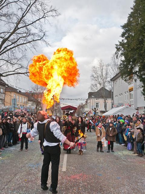 Feuerspucker von der Neuenburger Zigeunerclique