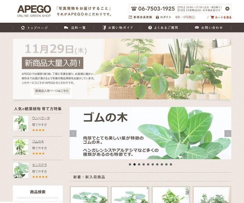 APEGO-トップページキャプチャ画像