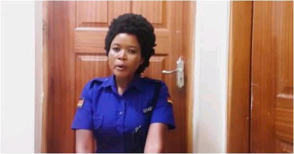 Mombasa based female Police officer Vivian song