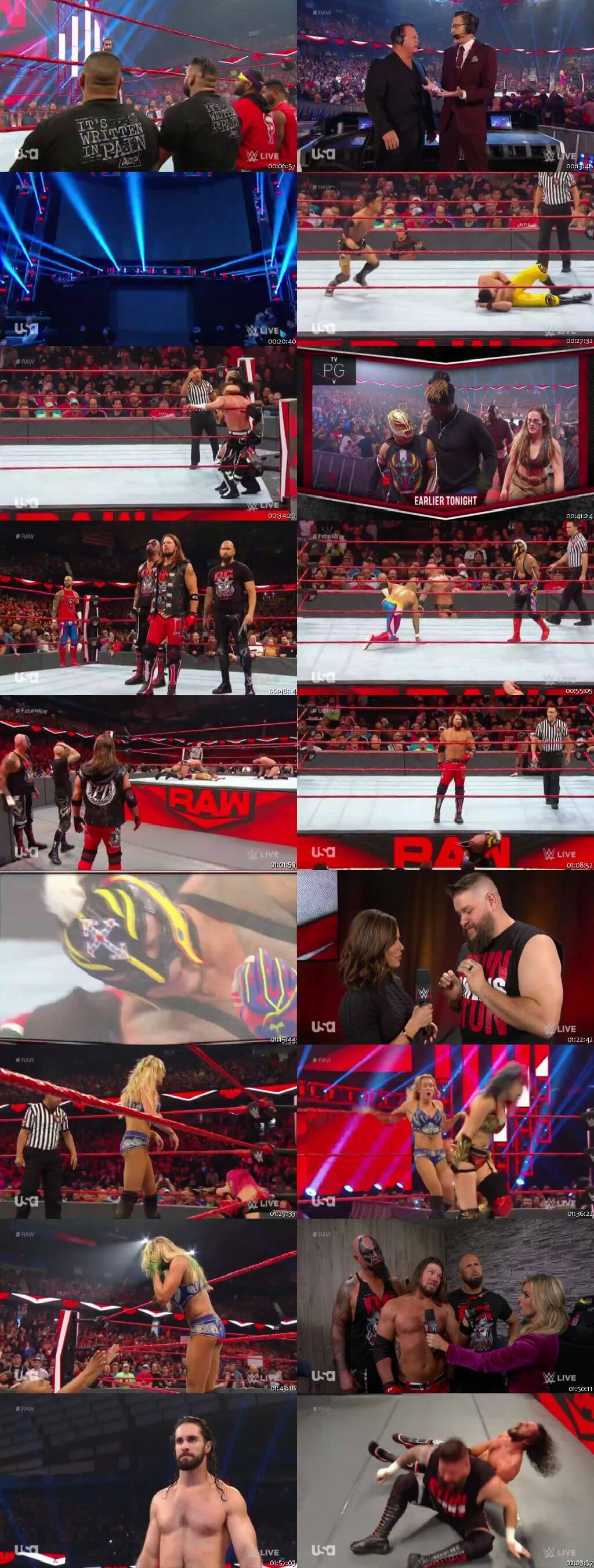Screen Shot Of Wrestling TV Show WWE Monday Night Raw 25th November Watch Online Free Download
