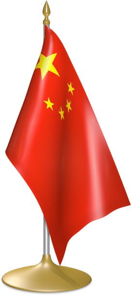 Chinese table flags - desk flags