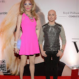 WWW.ENTSIMAGES.COM -     Vanity Von Glow  Drag Queens of London and Georgy Baratashvili Fashion designer   at     Valeriya in concert at the Royal Albert Hall  October 21st 2014                                                 Photo Mobis Photos/OIC 0203 174 1069