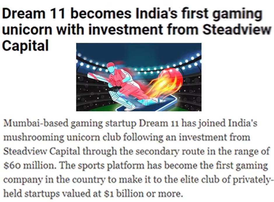 India Ka First 1$ Billion Dollar Company Bana Dream 11.