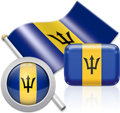 Barbadian flag icons pictures collection