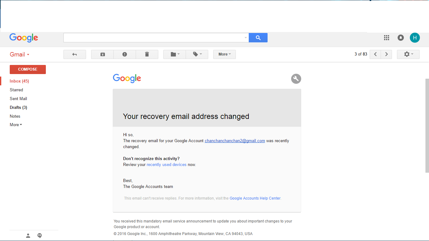 How can I get back my account? Hacker changed recovery email and