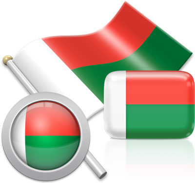 Malagasy flag icons pictures collection
