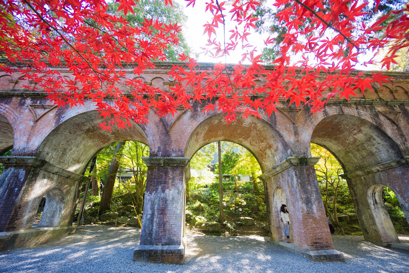 京都 南禅寺 水路閣 紅葉 写真1