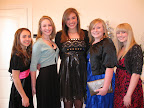 Attending the tea were Britney DeFranco, Rachel Williams, Audrey Schmitz, Kate Kidd and Abby Schneider.