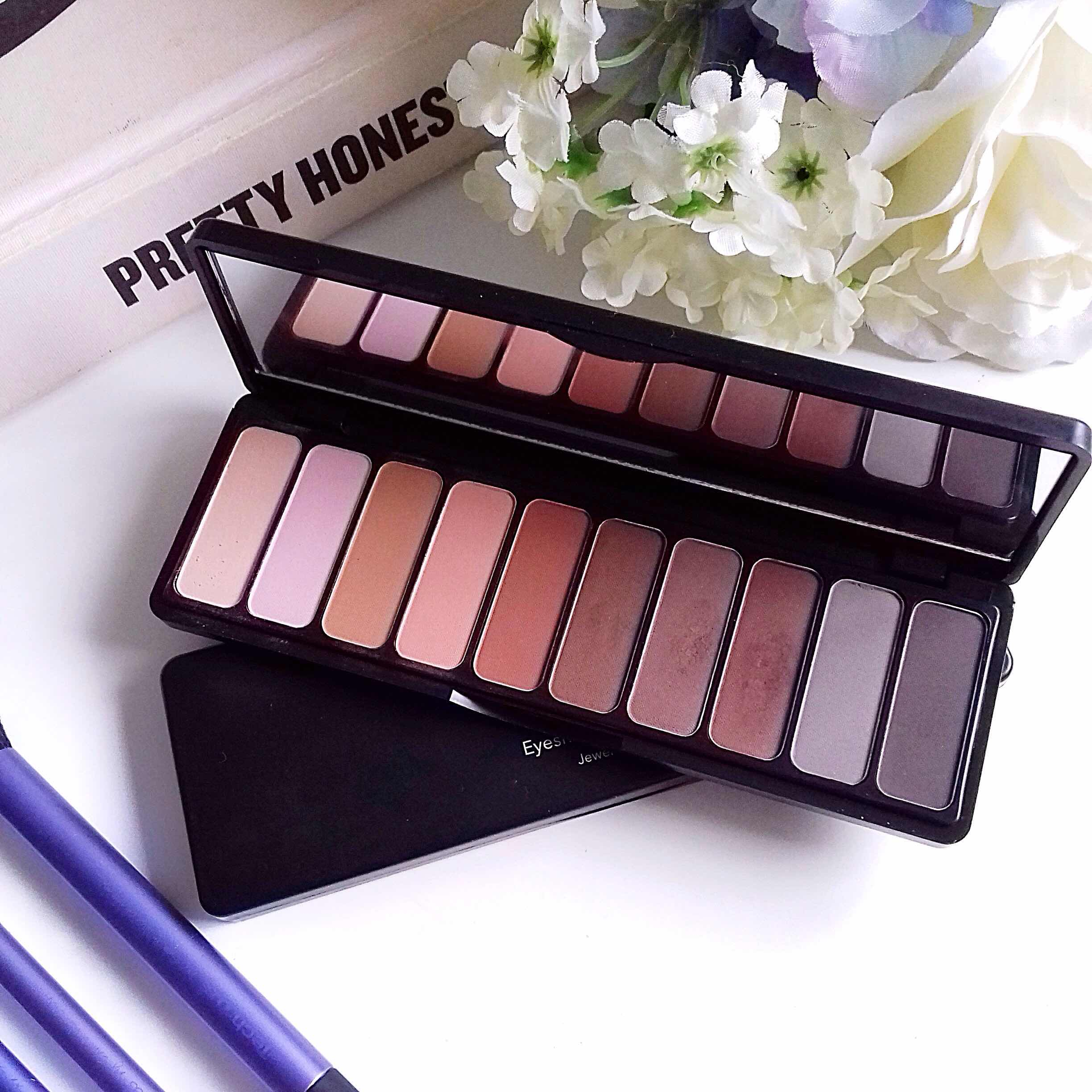 elf, mad for mattes, eyeshadow palette, sheer gloss, mattes, matte eyeshadow, nude mood, review