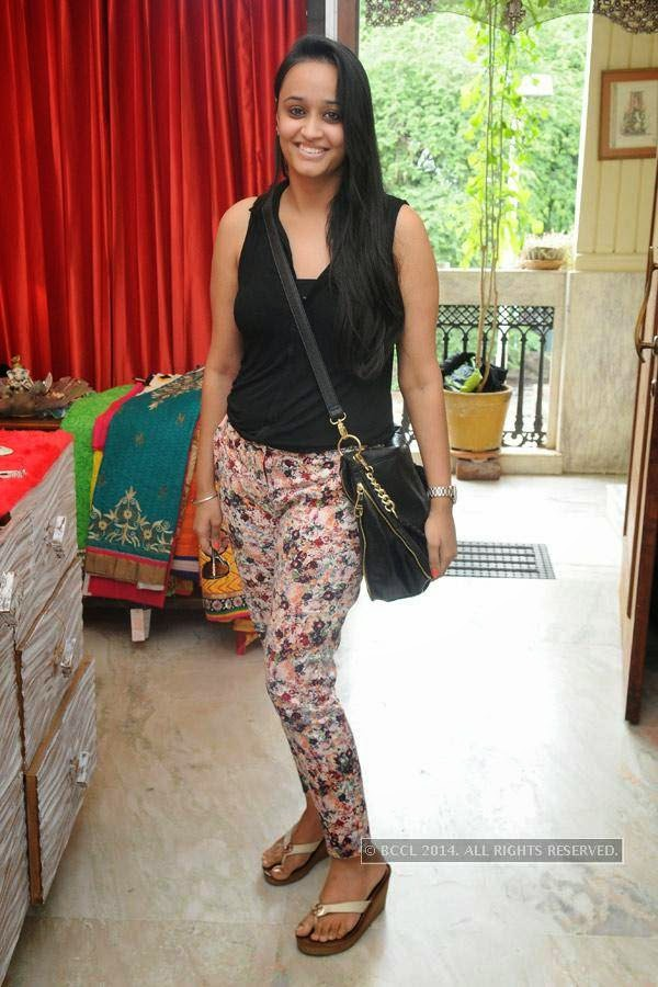 Jasmeet during a fashion exhibition in Hyderabad.
