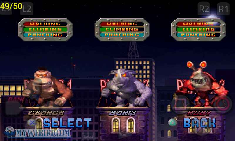 Rampage 2 Characters