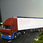 Iveco cab, used for my fictional fleet . Made from a modified oxford diecast cab made to a 4x2 towing a 3 axle curtain sider trailer .