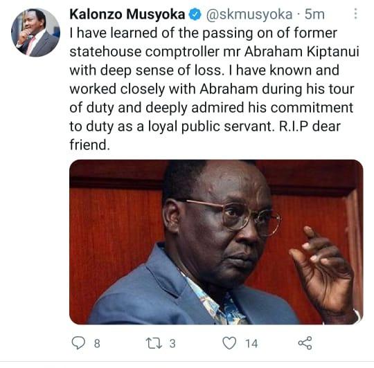 Wiper boss Kalonzo Musyoka