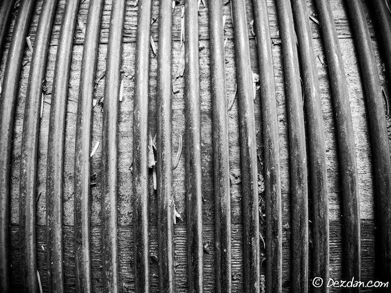 Machine wound wire.