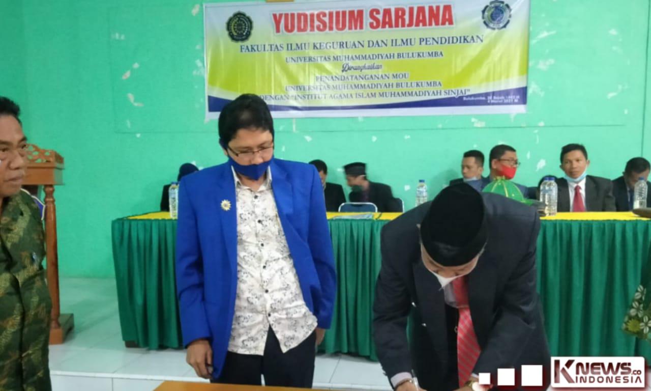 Rektor IAIM Sinjai Sambangi Universitas Muhammadiyah Bulukumba