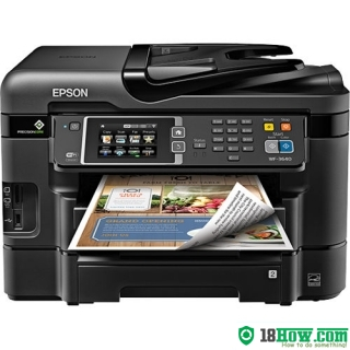 How to reset flashing lights for Epson WorkForce 321 printer