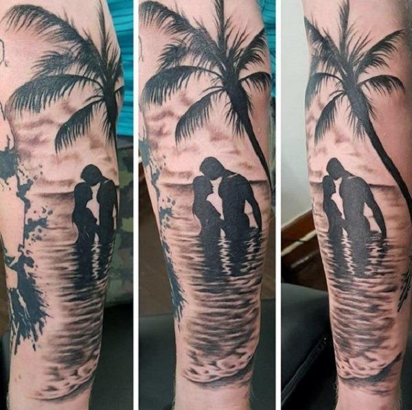os_amantes_da_praia_de_manga_tatuagem
