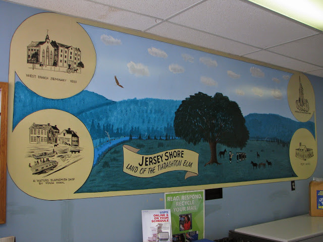 Jersey Shore, PA post office mural