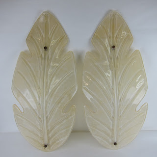 Murano Glass Wall Sconce Pair