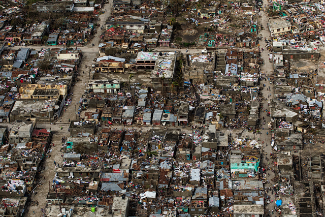 Aerial view of devastation wreaked in Haiti by Hurricane Matthew in October 2016. Photo: Logan Abassi / MINUSTAH / OCHA