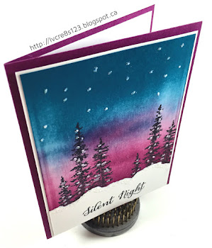 Linda Vich Creates: Color Burst Christmas and Wonderful Wonderland. Brayered Wonderland card cased from LeeAnn Greff.