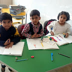 Drawing and Colouring Activity (Jr.KG.) 23-12-2015