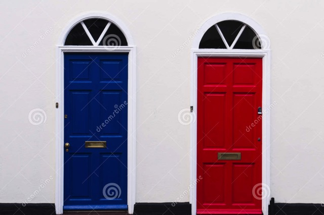 Blue red doors color warminster 31408746