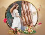 Rèm cửa đẹp hà nội hoa châu âu 06