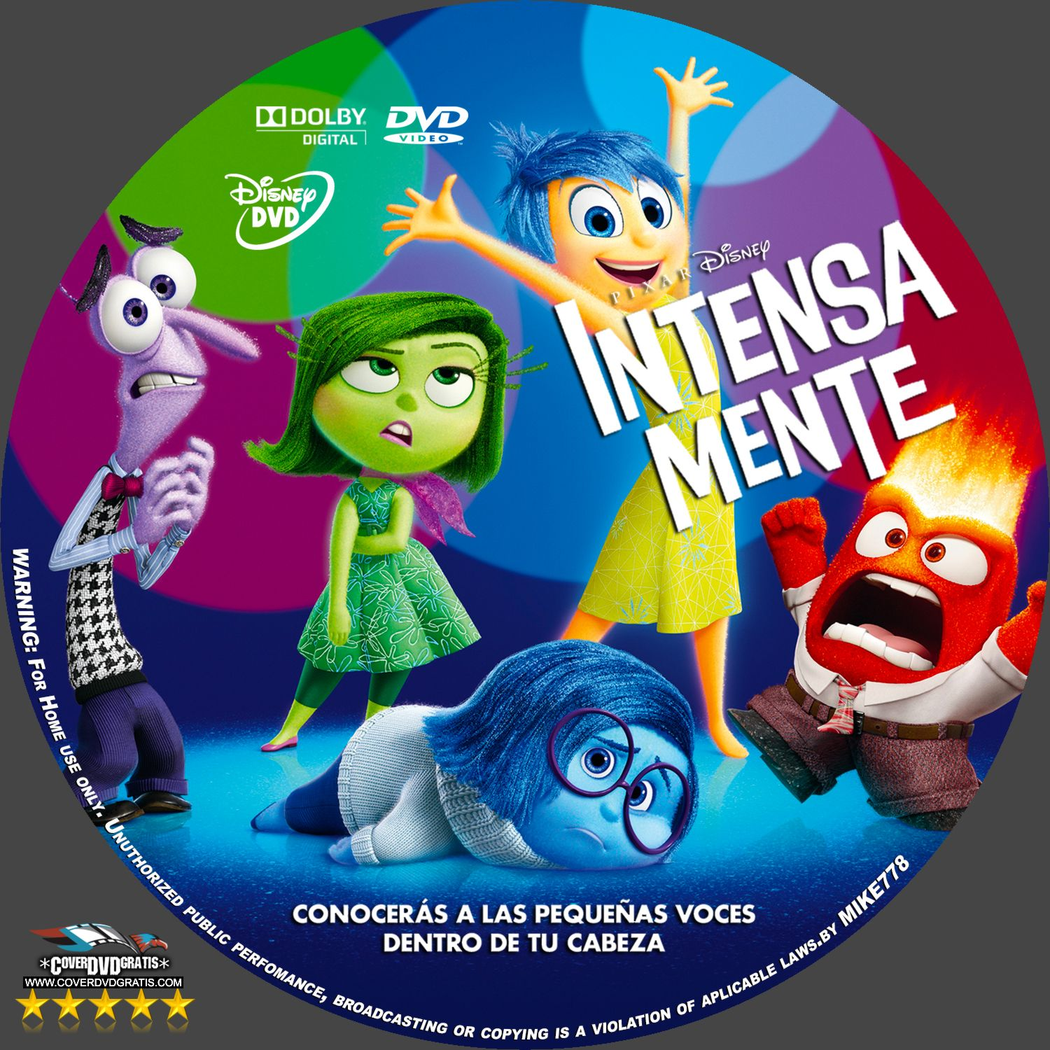 inside out 2015 dvd cover coverdvdgratis. Black Bedroom Furniture Sets. Home Design Ideas