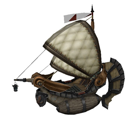 Final Fantasy Crystal Chronicles Boat Papercraft