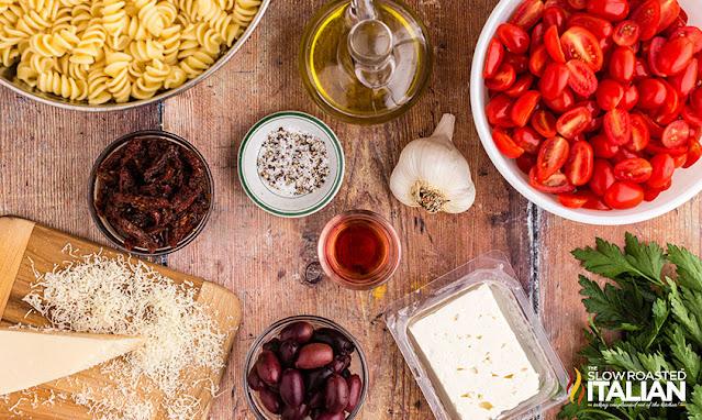 feta pasta salad ingredients