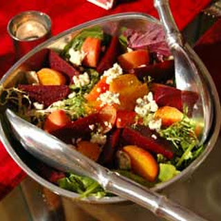 Roasted Organic Beet Salad with Aged Goat Cheese